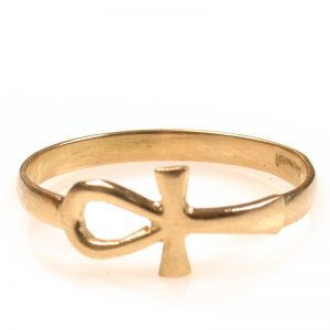 Key of life - Ankh ring 18k gold jewelry