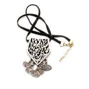 Arabic calligraphy pendant with tangled small pendants
