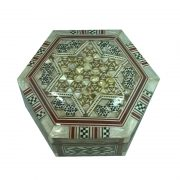 Medium Mother Of Pearl Hexagon Jewelry Box