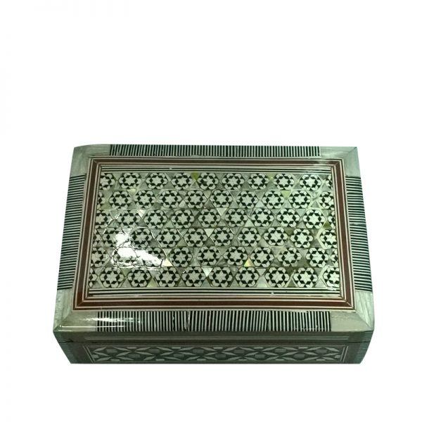 Medium Mother Of Pearl Rectangle Jewelry Box