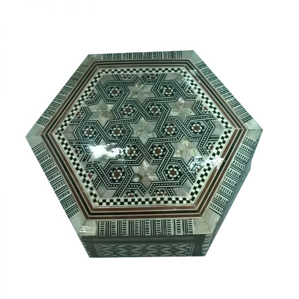 Mother Of Pearl Hexagon Jewelry Box
