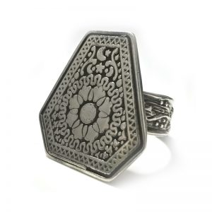 Roman inspired silver ring design