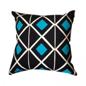 A contemporary Nubian Pattern handmade Egyptian cushion cover