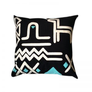 Contemporary Egyptian Khayameya ( Appliqué ) Throw Pillow Cover in traditional Nubian Motifs