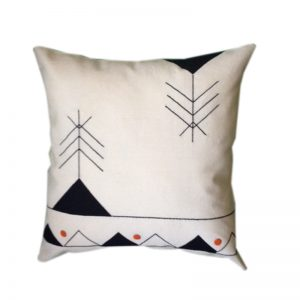 Contemporary Egyptian Khayameya ( Appliqué) Throw Pillow Cover inspired by Traditional Nubian Motifs
