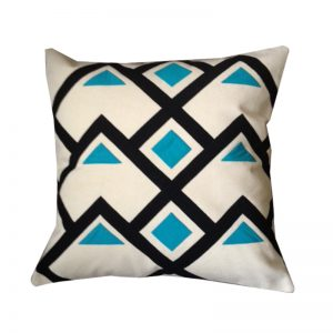Contemporary Egyptian Khayameya ( Appliqué) Throw Pillow Cover inspired by traditional Geometric Nubian patterns