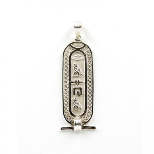 Filigree Sterling silver Cartouche