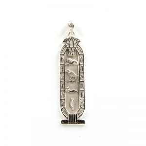 Lotus Sterling Silver Cartouche