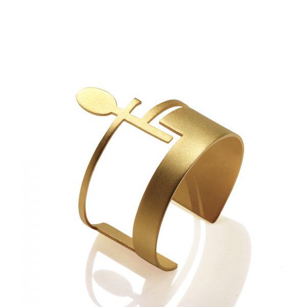 Ankh bracelet (18k gold plated finish)