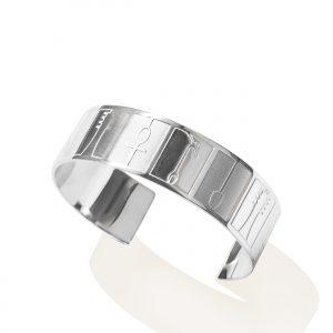 Ankh (hieroglyphs) bracelet (mix matt_shiny platinum paltedfinish)