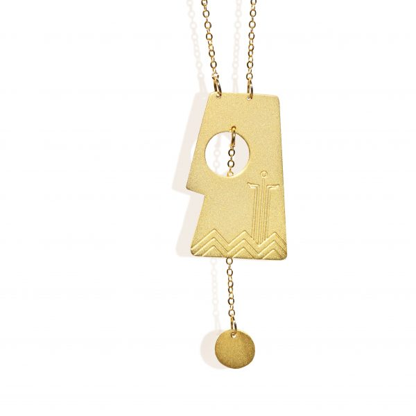 Aten necklace (18k gold plated finish)