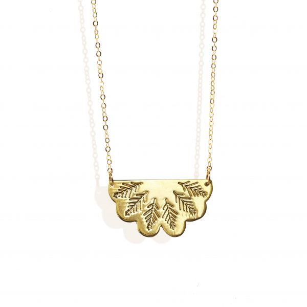 Egyptian fan necklace (18k gold plated finish)